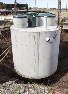 voorbeeld plaatsing septische tank